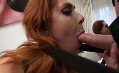 Redhead slut Mia Cruise takes massive dick in her ass