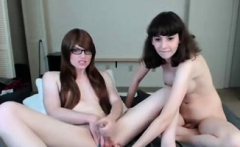 Intoxicating Amateur Tranny Floozy With Another Shemale