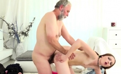 Teen Tyna Lets Old Man Impale Her Tight Pussy