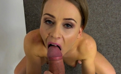 Fake Agent Hot office fuck for slender British model