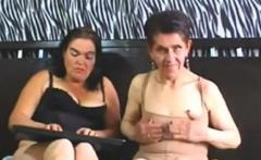 Granny and granny show boobs on webcam skype