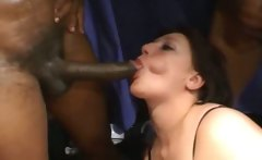 Abbi Rammed With Two Black Cocks