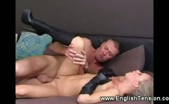 Sexy dominatrix fucked in her long boots
