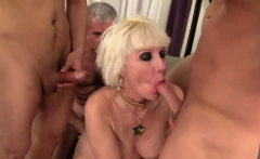 Grandma Dalny Marga Fucks Five Bastards