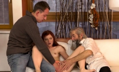 DADDY4K. Old pervert thrusts his fingers into snatch of...