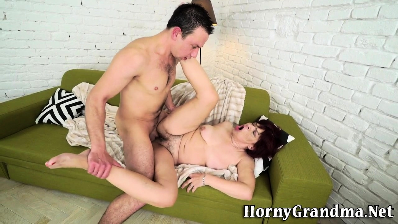 Tongued old redhead fuck