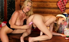 Mrs.Claus's Little Helper loves to lick milf pussy