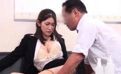 Hot businesswoman gets kinky on the job and rides rod