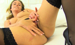 English milf Kitty Cream fingers her fabulous fanny