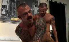 Tattooed gays Jon and Sean enjoy hard anal sex