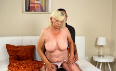 Granny gets licked out