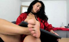 Bondage fetish solo toying hussy