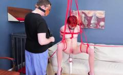 Bondage package punish her with slaps, caning, and paddling,
