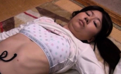 Fine looking cutie gets tits sqeeuzed and played with wildly