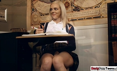 Hot schoolgirl fucking her teacher