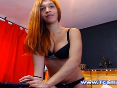 Hot Sexy And Busty Teen Shemale Teasing