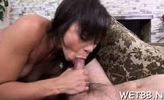 Cunning sweetie Adrian Maya bounces on thick dinky