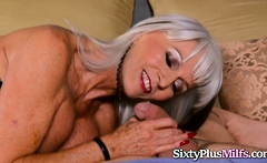 Busty Granny Fucks Hard With a Big Cock
