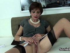 Unfaithful British Mature Lady Sonia Pops Out Her Enormous N