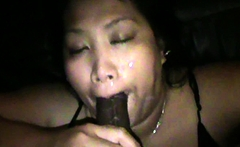 Shot my load all over her mouth and face and she loved it
