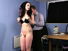 Young British Beauty Facialized On Her Knees