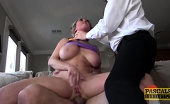 PASCALSSUBSLUTS - Busty MILF ass hammered and pussy toyed