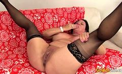 Juicy Older Brunette Leylani Wood Eagerly Rides a Hard Cock