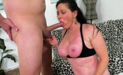 Mature Alexandra Silk Strips and Fucks