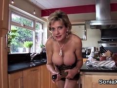 Unfaithful British Milf Lady Sonia Displays Her Giant Boobs4