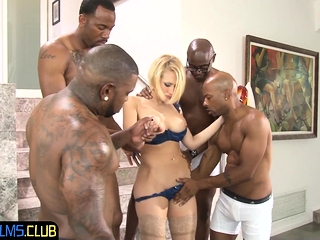 Busty blonde braces for rough anal fucking