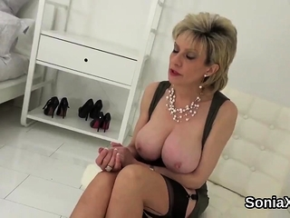 Cheating british milf lady sonia pops out her huge jugs63CCM