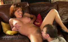 Schoolboy makes her sugarmom squirt
