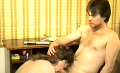 Vintage homemade porn with a slutty brunette wife