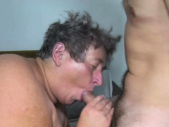 Fat Horny Grandma In Her First Mmff Goupsex