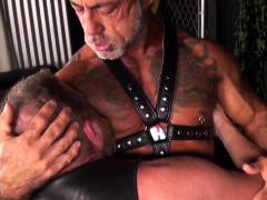 Barebacked Mature Bear Cocksucking His Lover