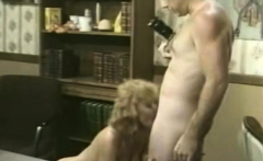 Blonde bombshell in a lusty vintage porn