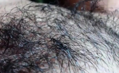Blue Dildo In Hairy Pussy...