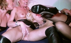 Party Reverse Group Sex from 3 German MILFs with Young Guy