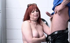 Amber Dawn sucking the big cock of LP Officer Rusty Nails