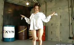 Amazing Japanese idol Yui Aoyama showing