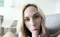 Hot blonde Sucks A Stranger In Hotel Room