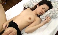 Sakura Kitazawa licks dong and is pumped by it and with sex