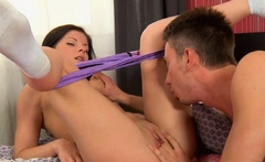 Mischievous russian Clarice gets banged hard