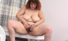 Great Big Boobs On Masturbating Redhead