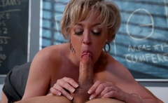 Naughty America - Dee Williams helps out her student