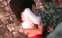 Hot horny couple caught while fucking