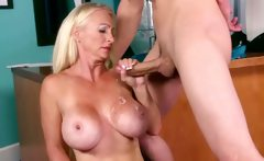 Long blond mature wife rear fucked