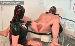 Dirty Carmen in exciting latex stuffing