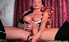 Kinky Carmen has all sorts of toys